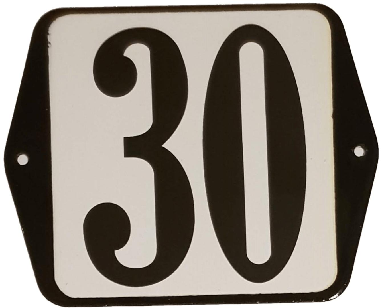 Huisnummer standaard nummer 30