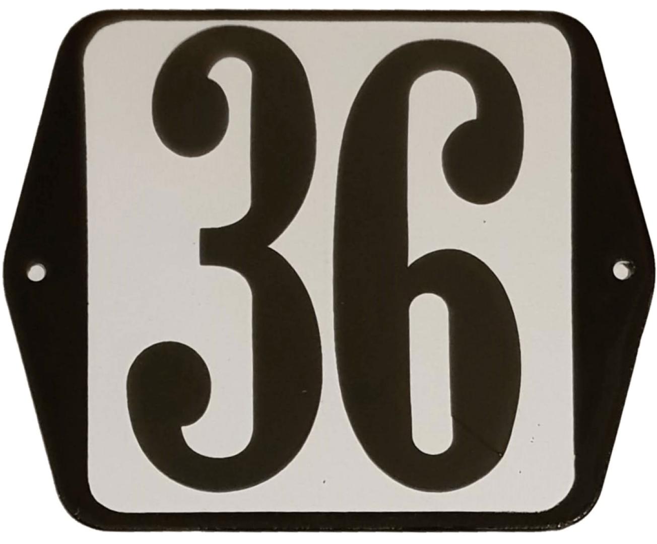 Huisnummer standaard nummer 36