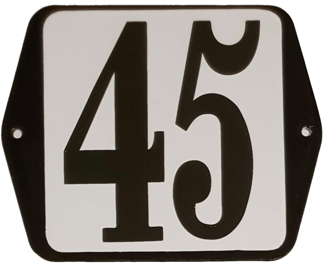 Huisnummer standaard nummer 45