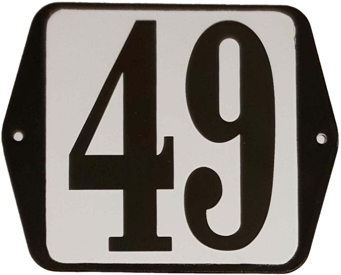 Huisnummer standaard nummer 49