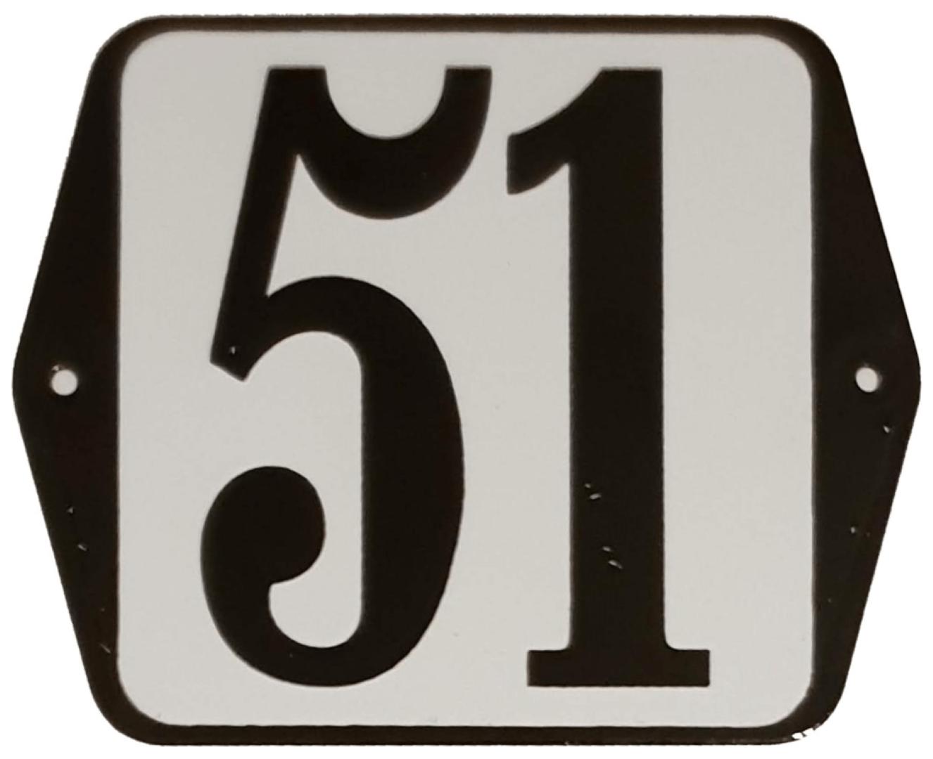 Huisnummer standaard nummer 51