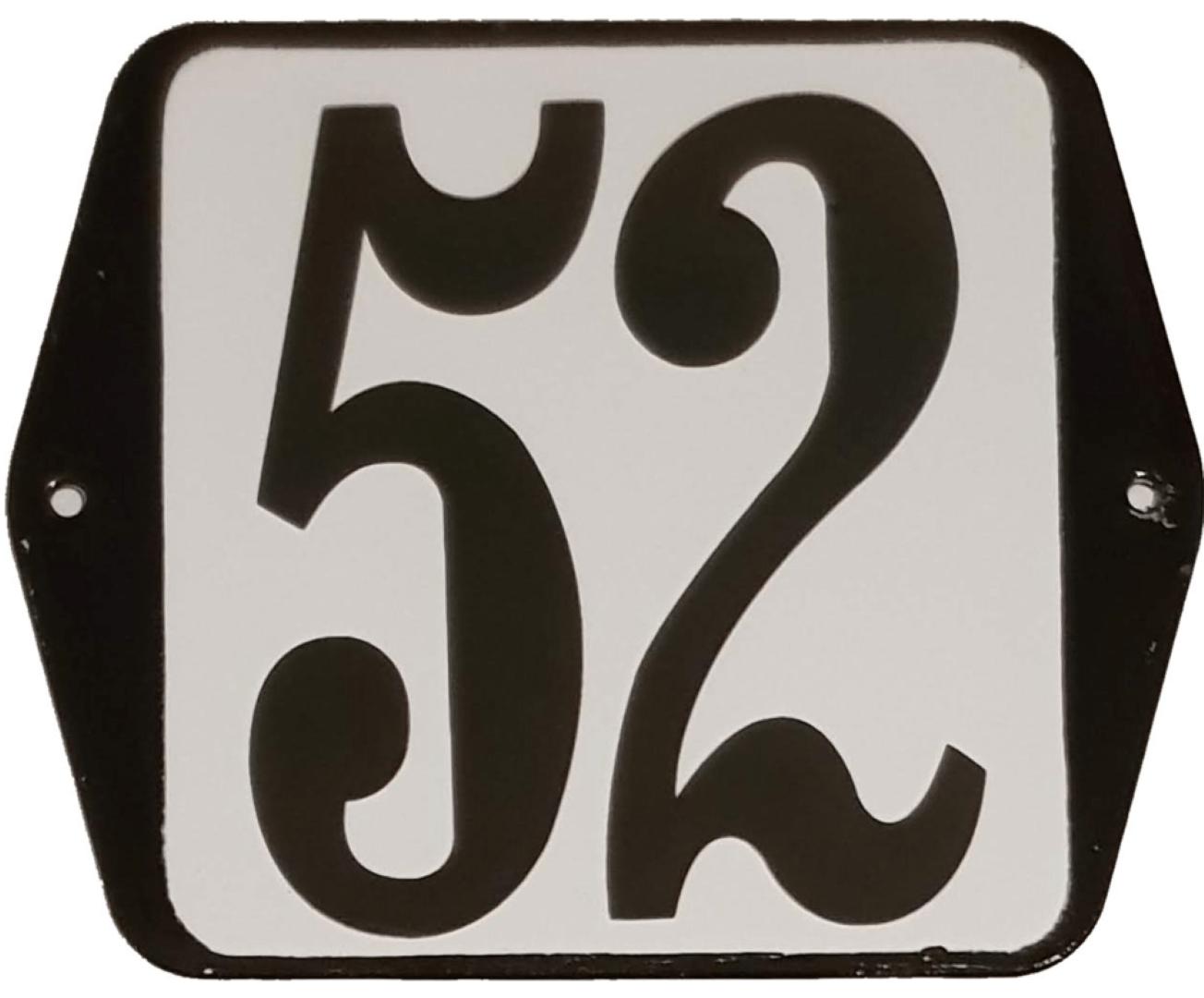 Huisnummer standaard nummer 52