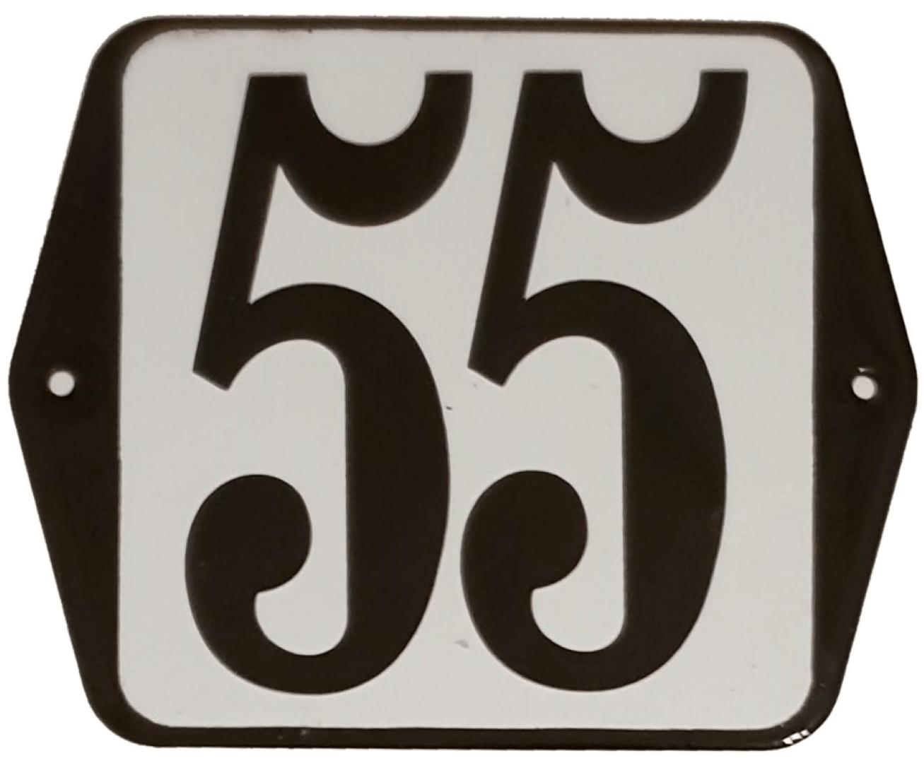Huisnummer standaard nummer 55