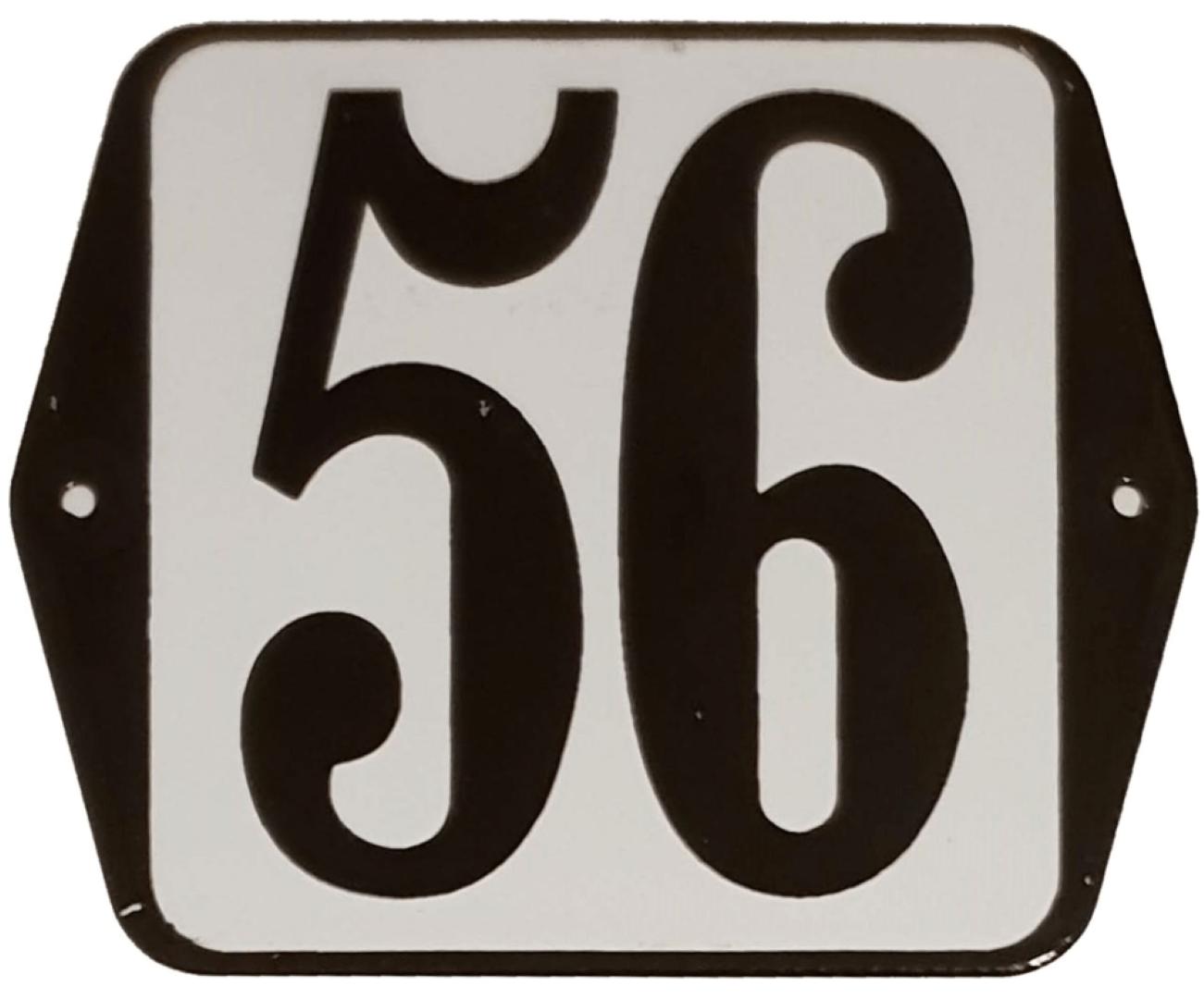 Huisnummer standaard nummer 56