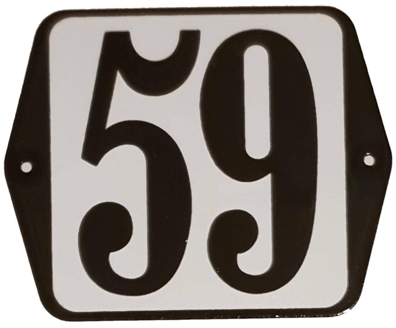 Huisnummer standaard nummer 59