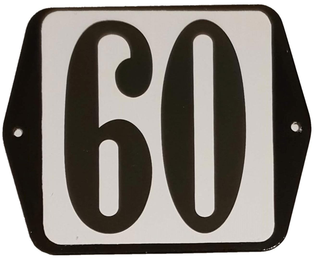 Huisnummer standaard nummer 60