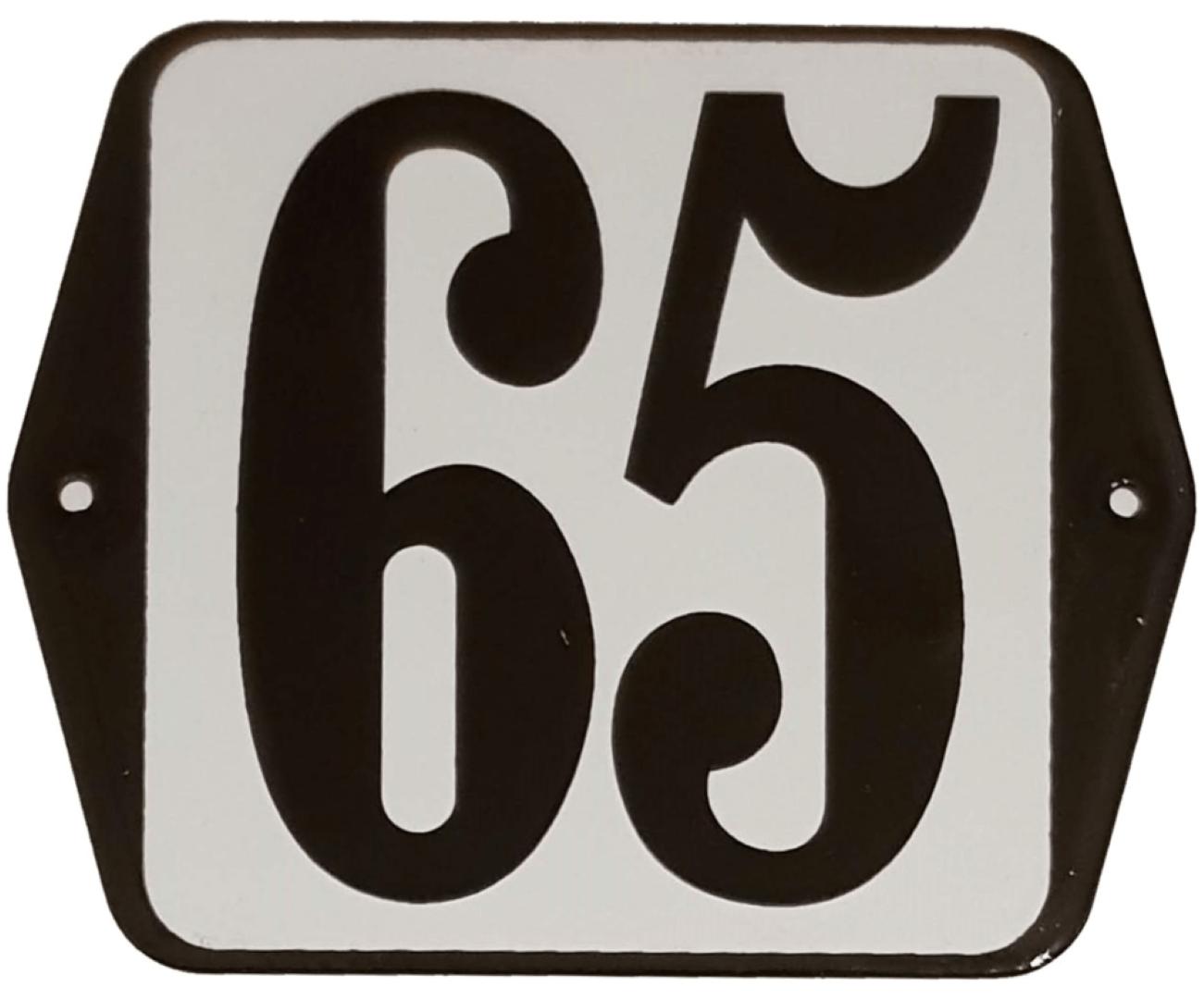 Huisnummer standaard nummer 65