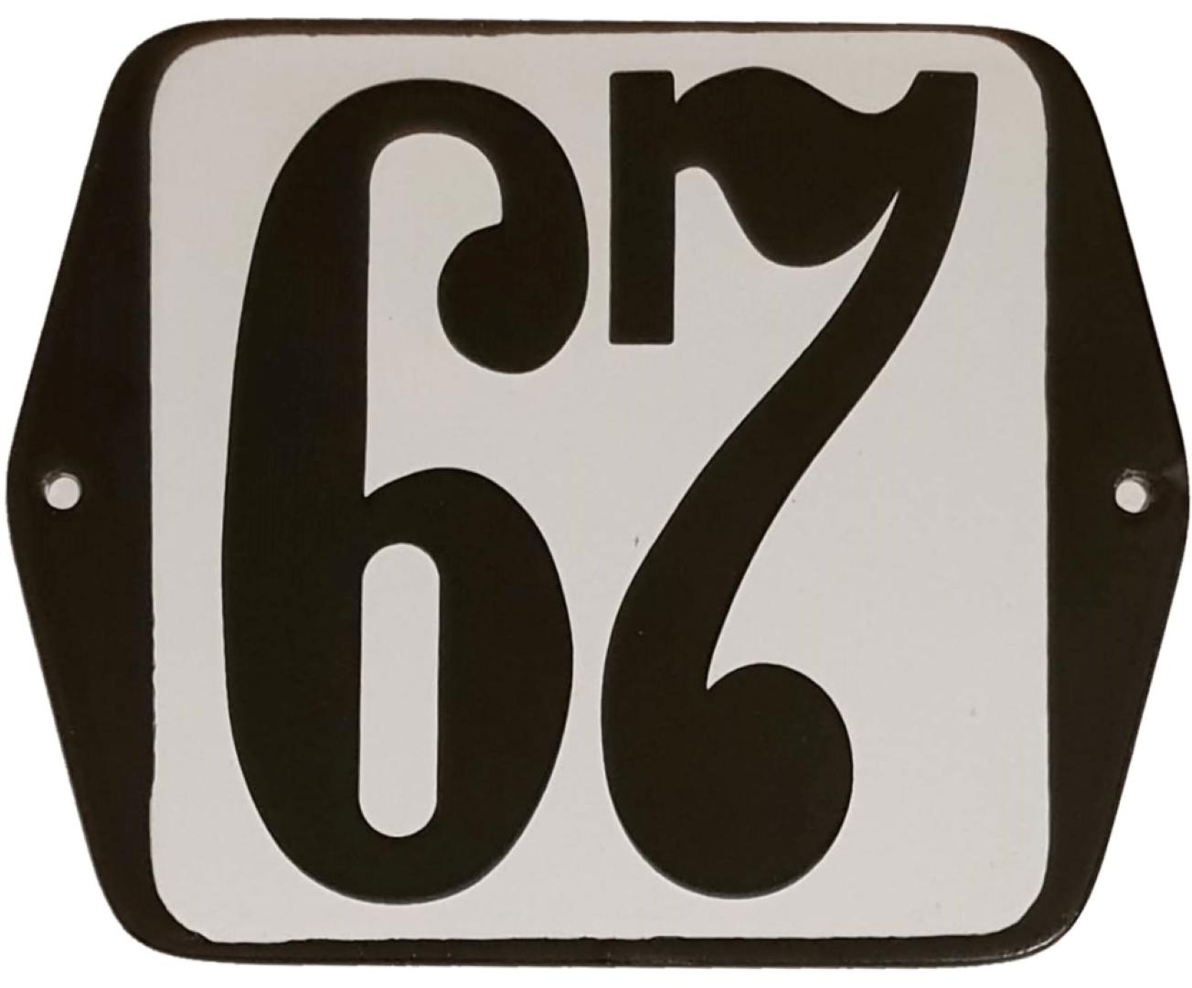 Huisnummer standaard nummer 67