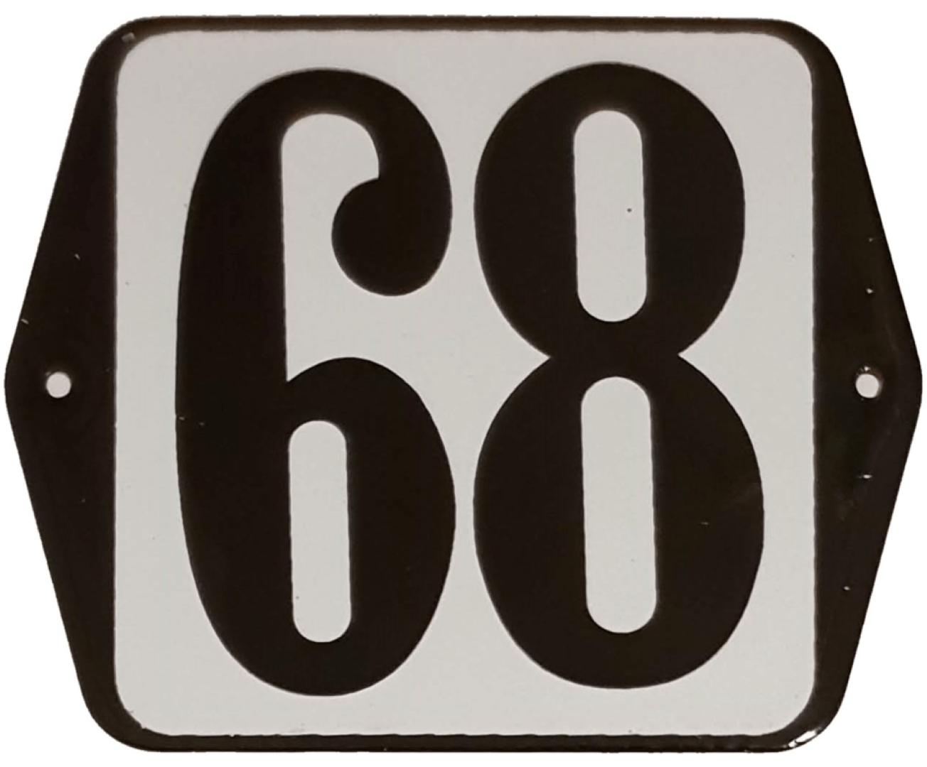 Huisnummer standaard nummer 68