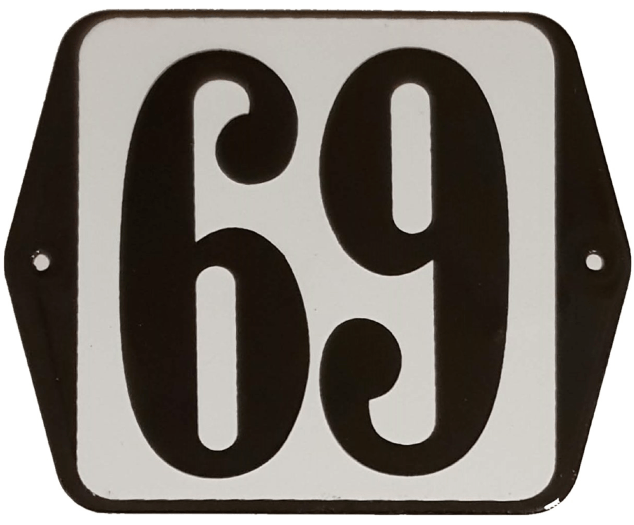 Huisnummer standaard nummer 69