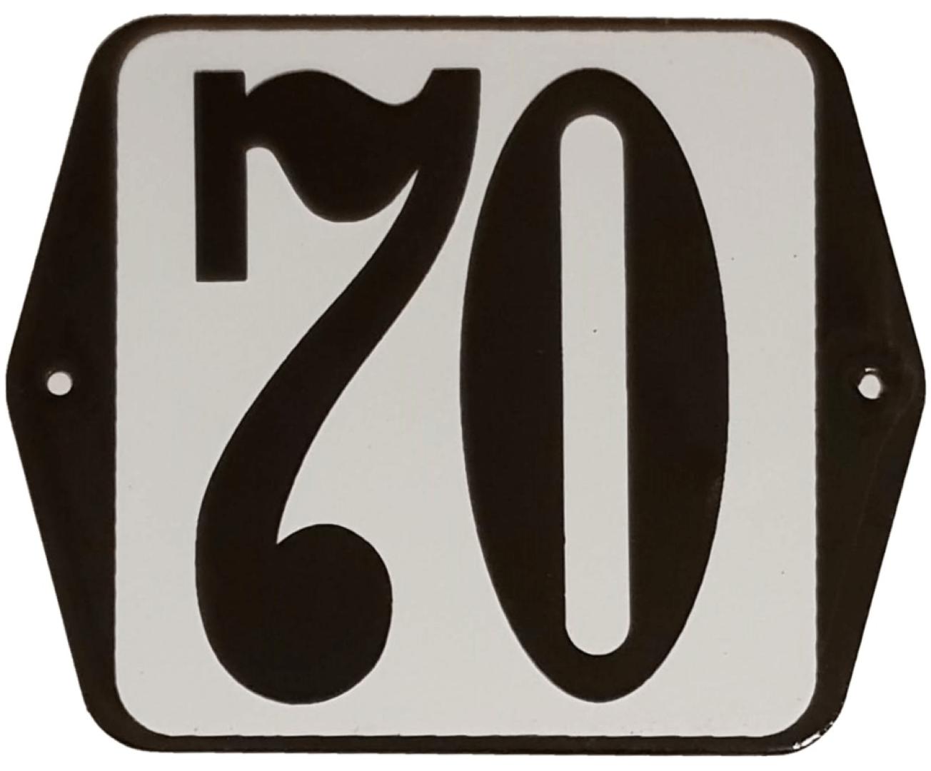 Huisnummer standaard nummer 70