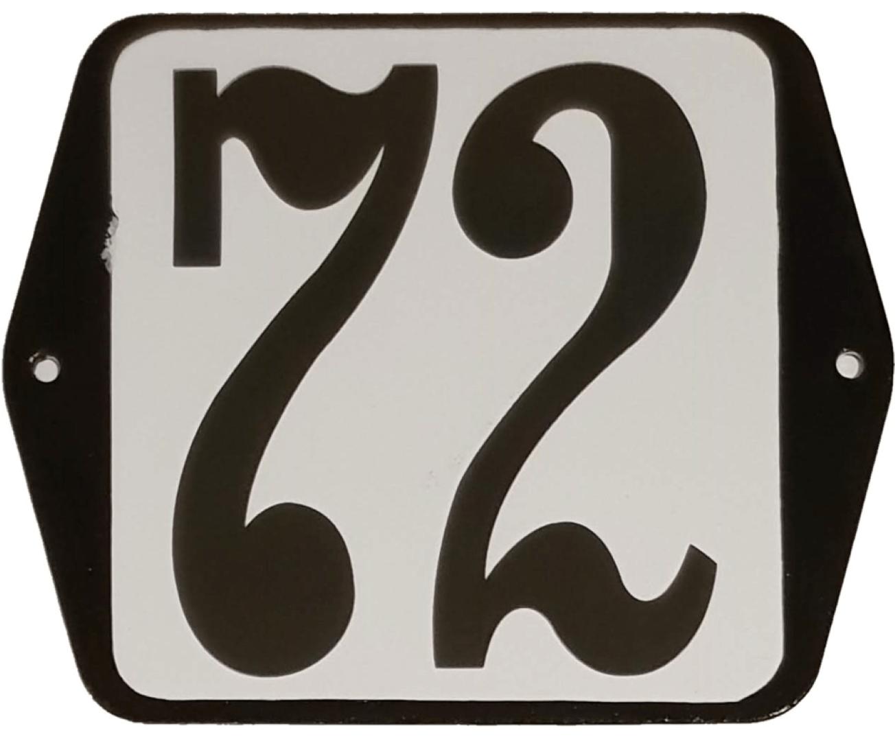 Huisnummer standaard nummer 72