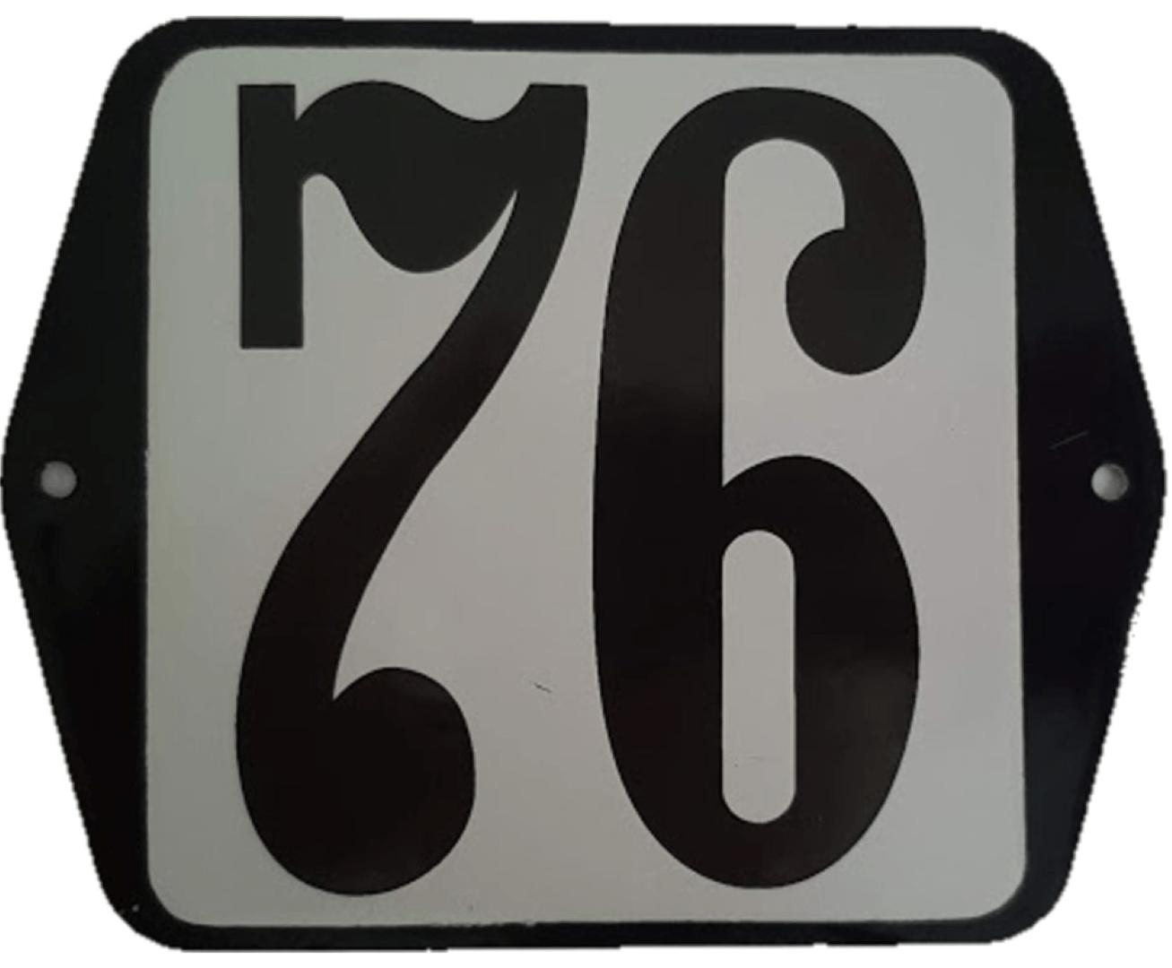 Huisnummer standaard nummer 76