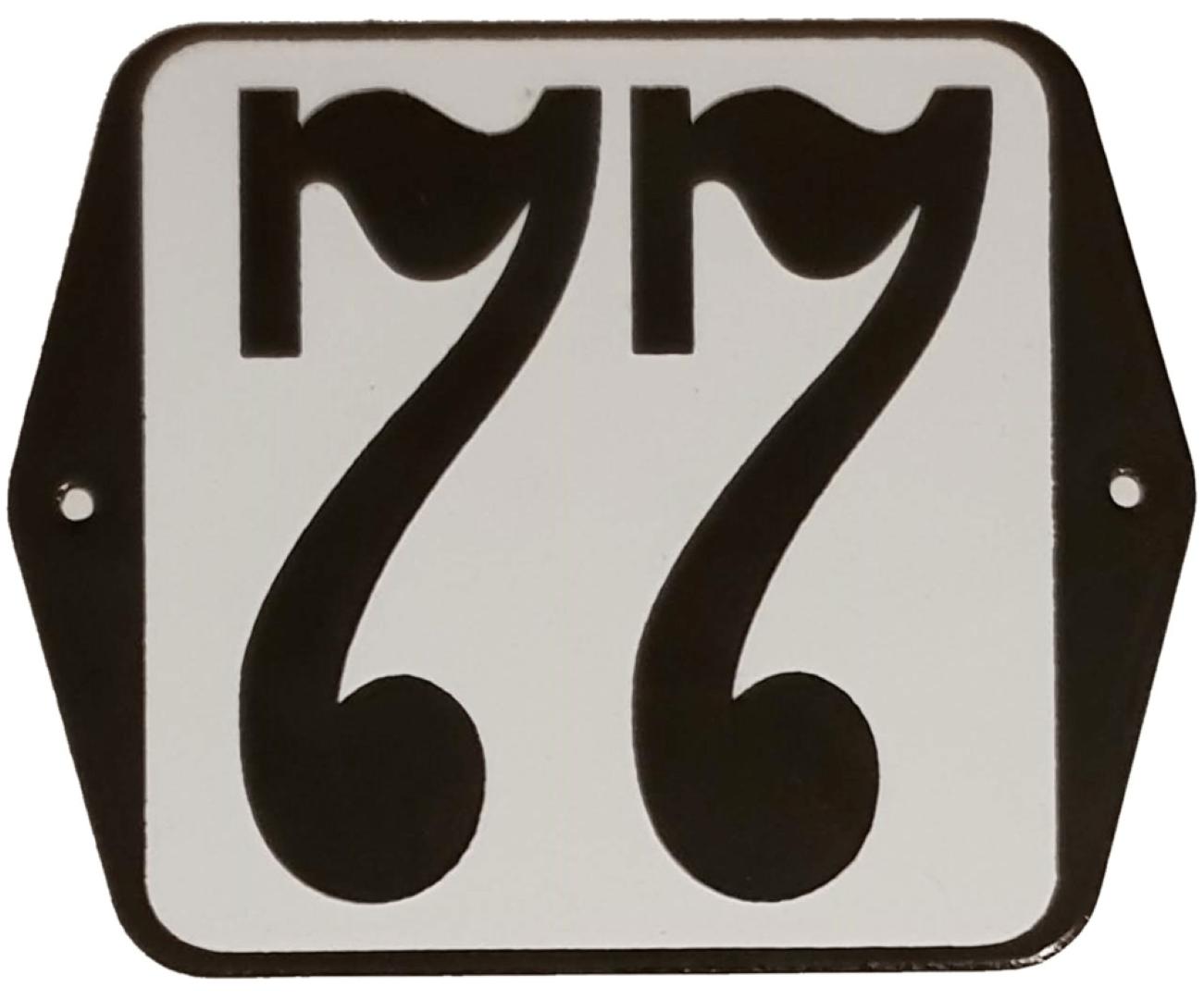 Huisnummer standaard nummer 77