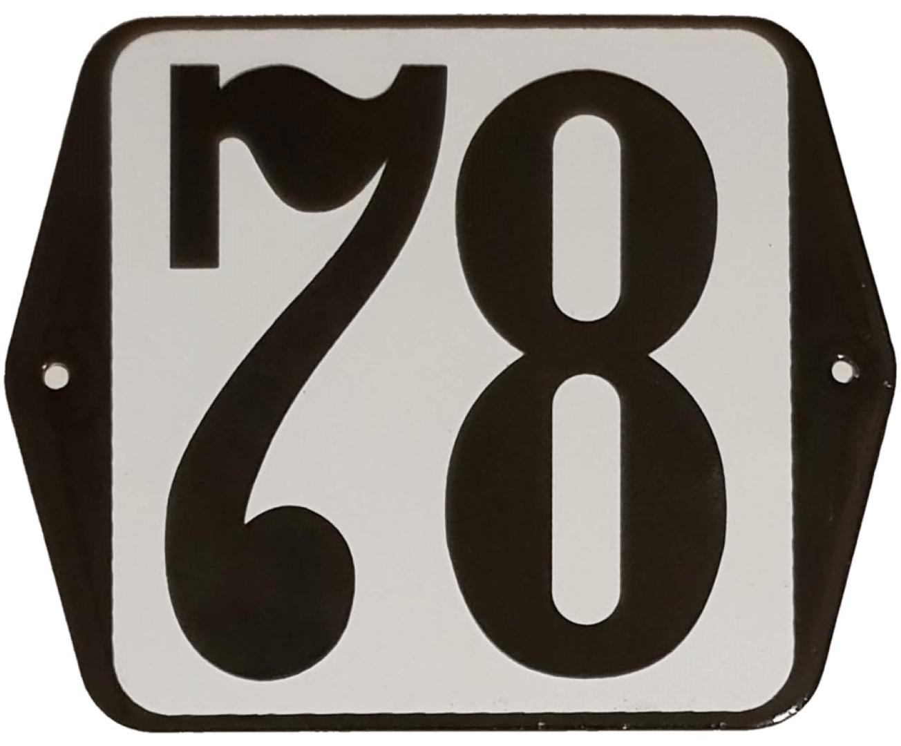 Huisnummer standaard nummer 78