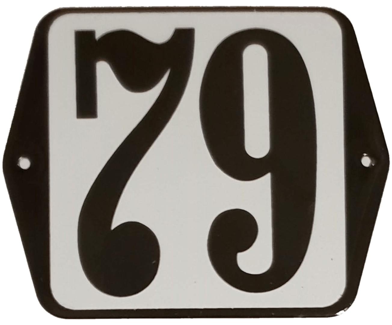 Huisnummer standaard nummer 79