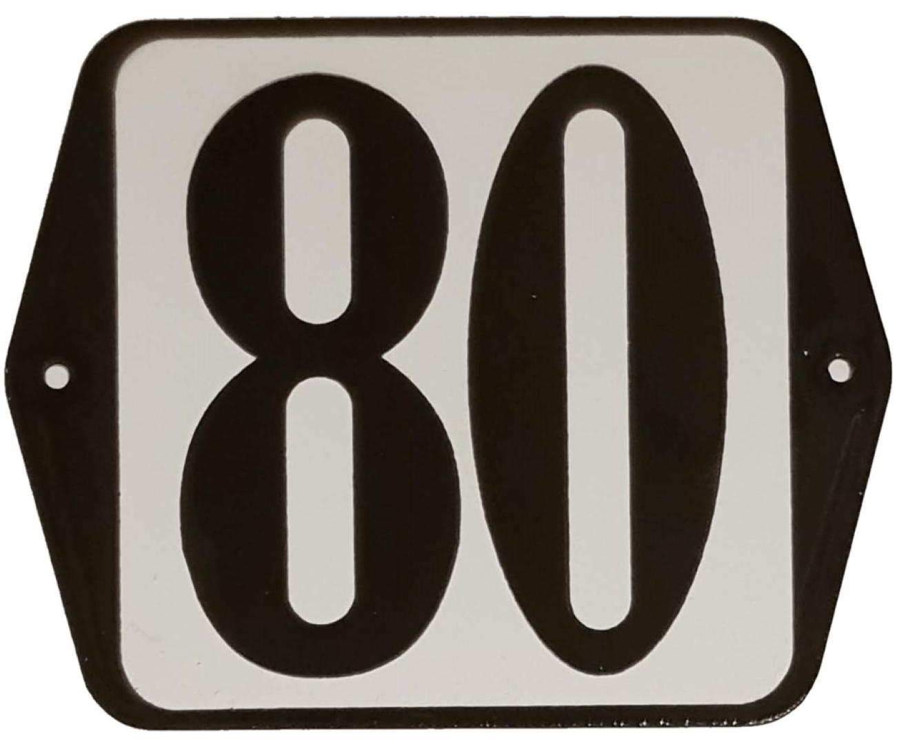 Huisnummer standaard nummer 80