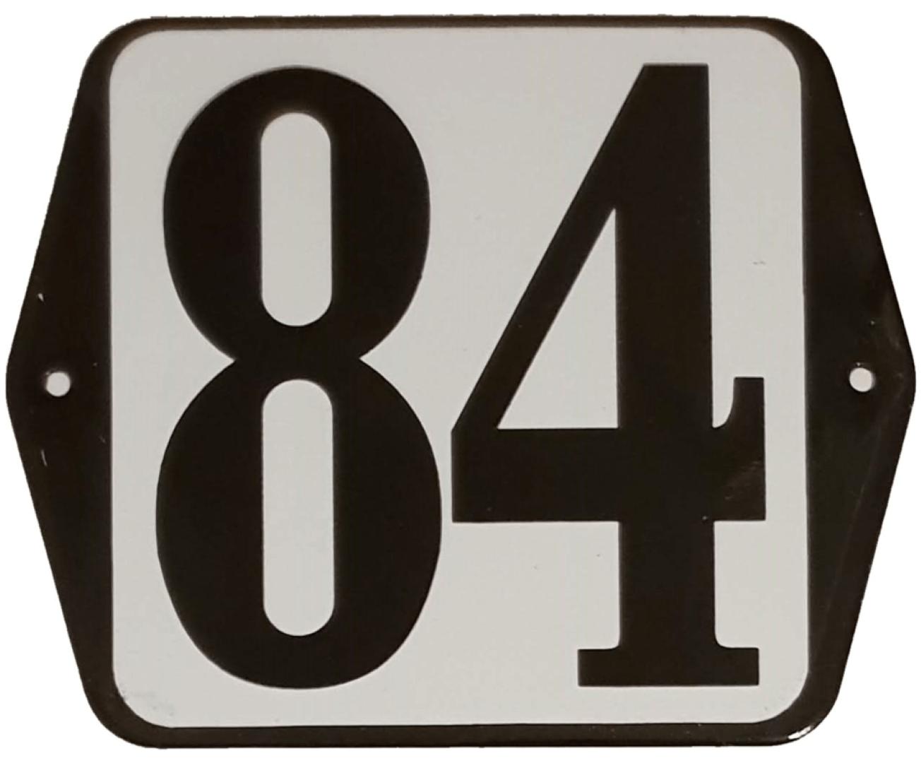 Huisnummer standaard nummer 84