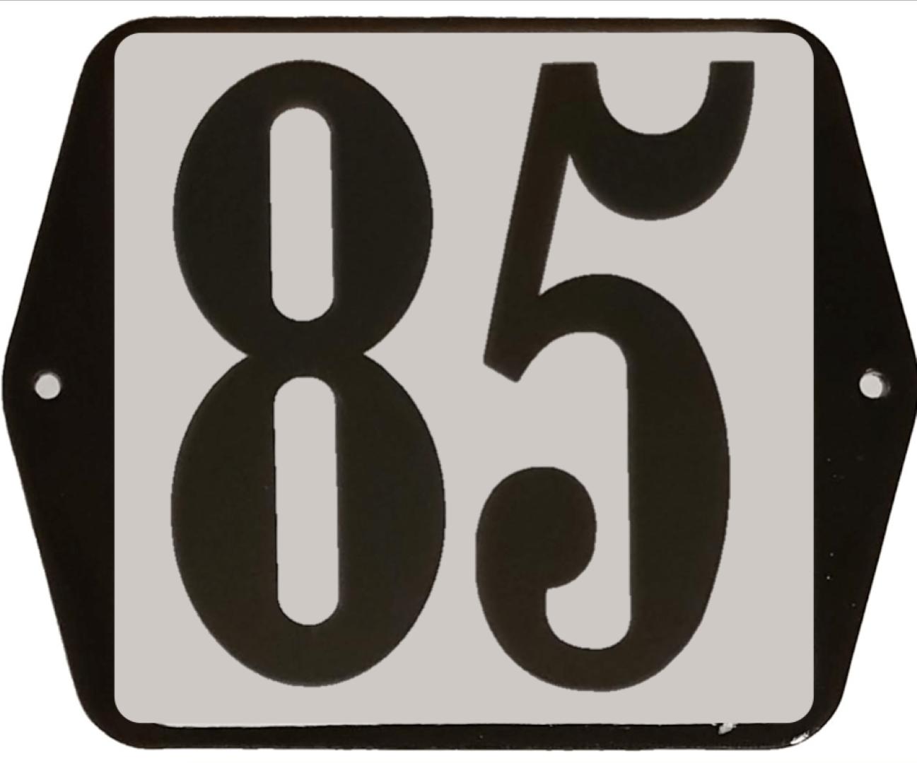 Huisnummer standaard nummer 85