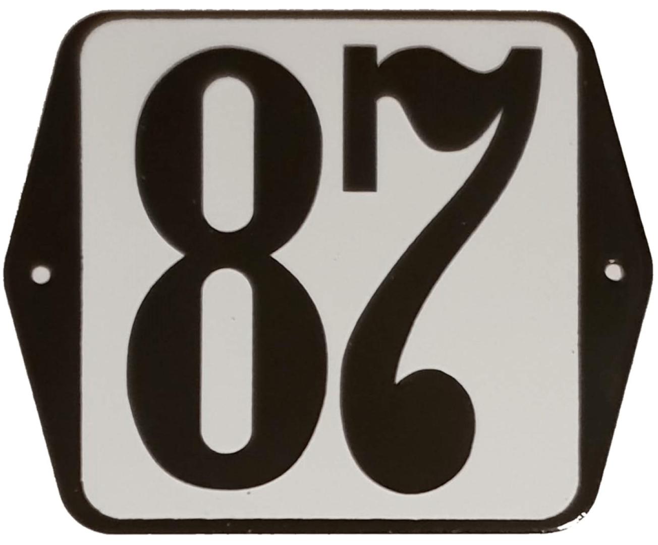 Huisnummer standaard nummer 87