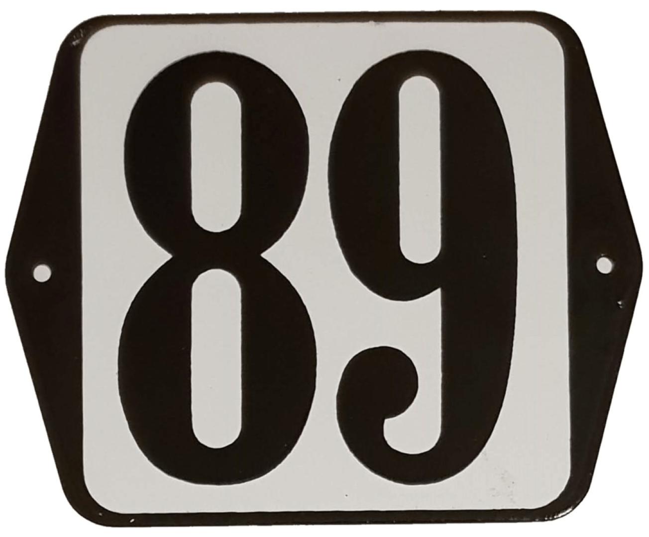 Huisnummer standaard nummer 89