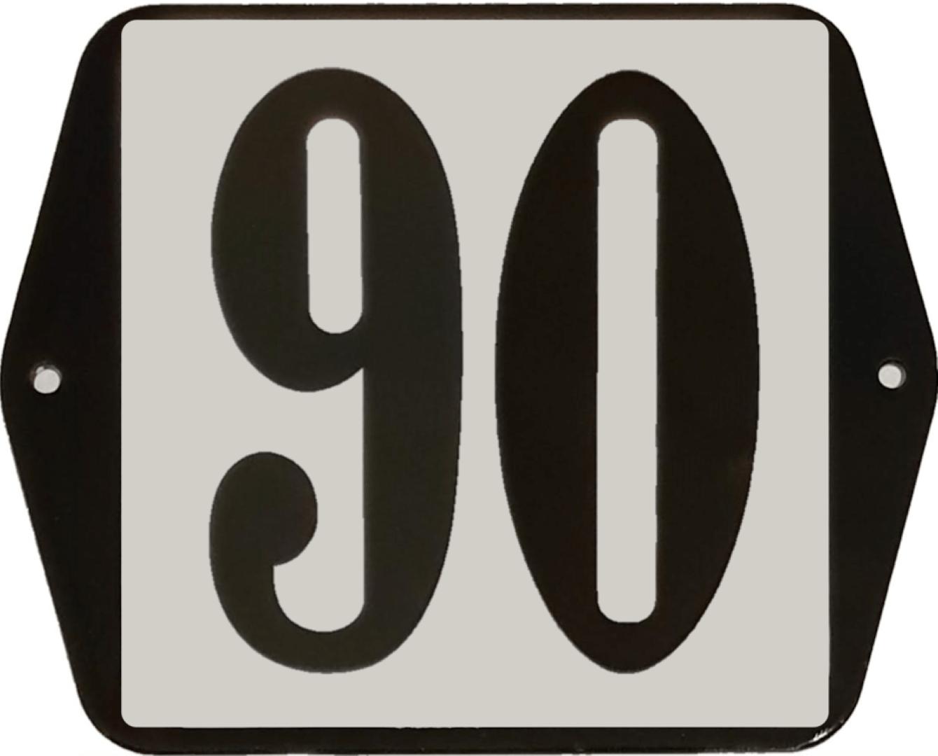 Huisnummer standaard nummer 90