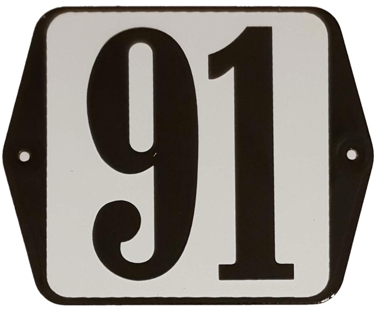 Huisnummer standaard nummer 91