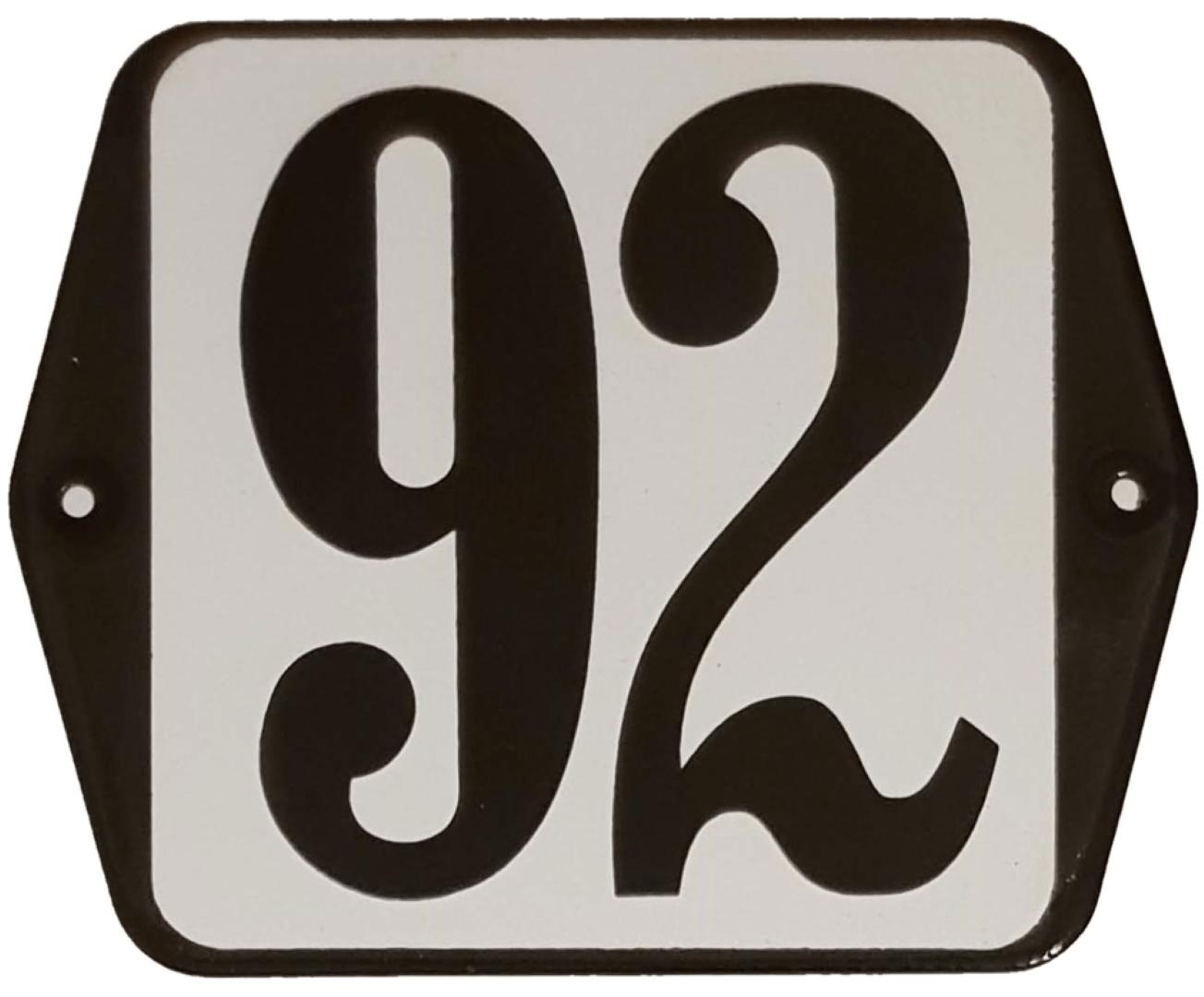 Huisnummer standaard nummer 92