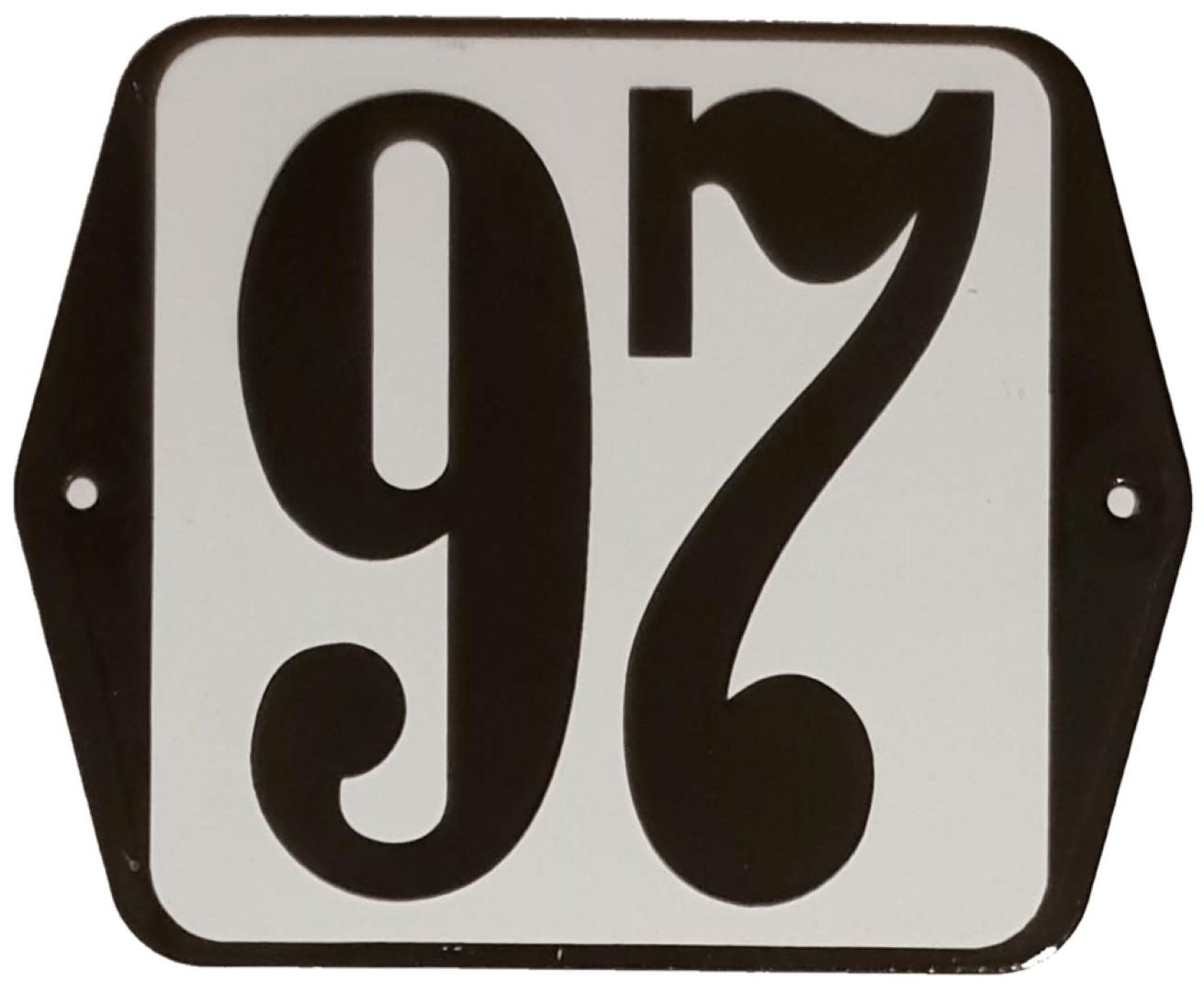 Huisnummer standaard nummer 97