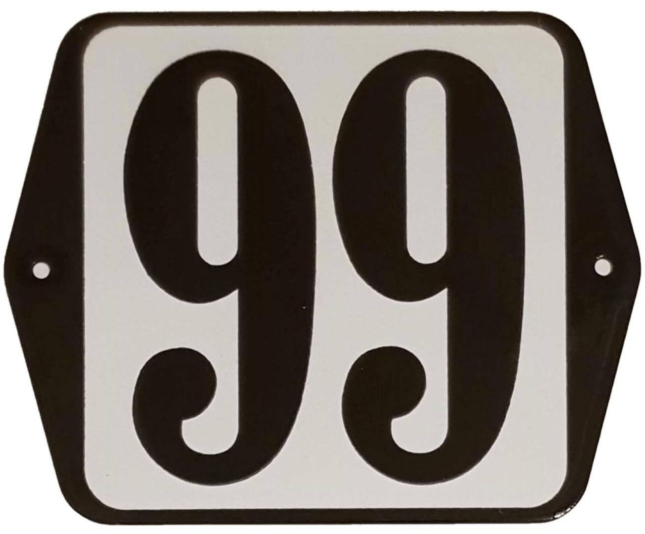 Huisnummer standaard nummer 99