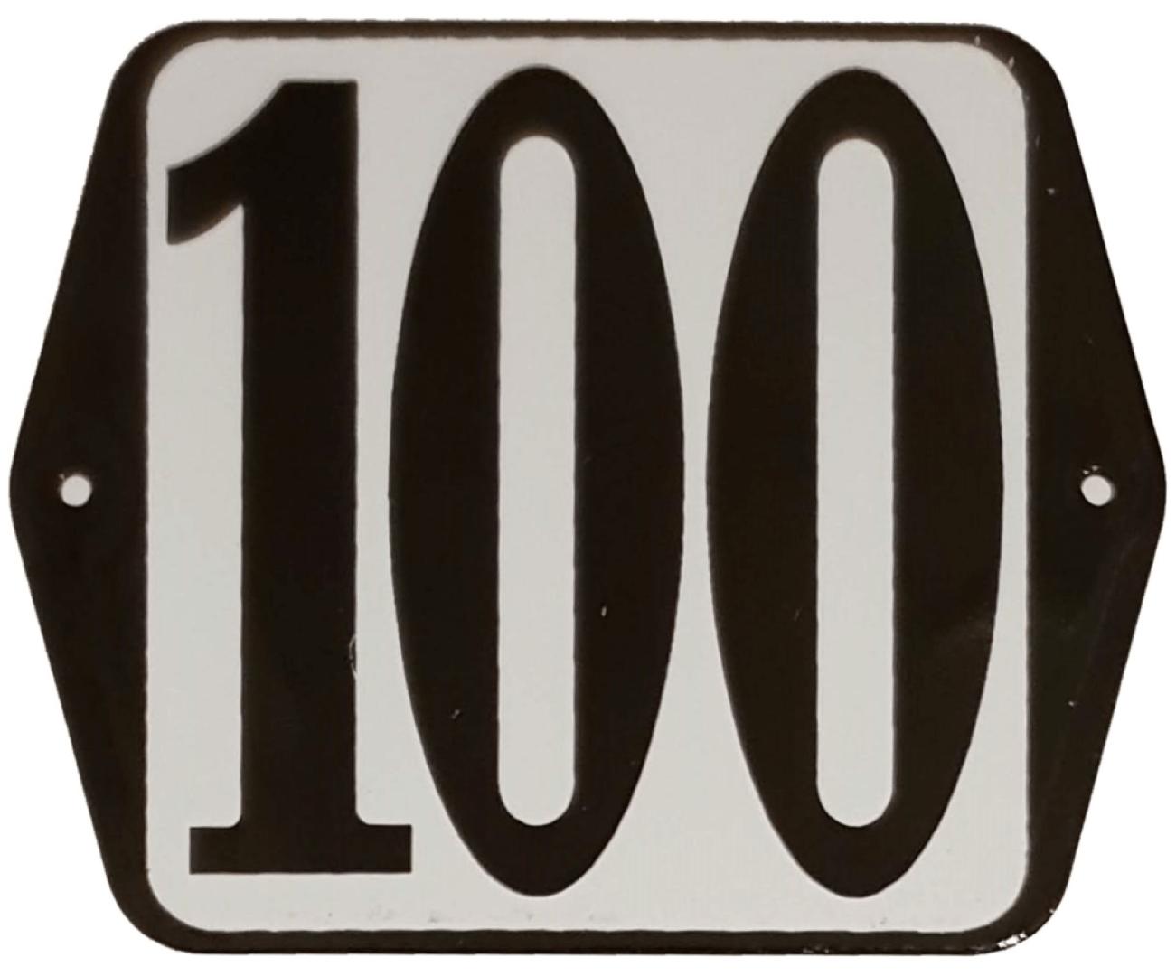 Huisnummer standaard nummer 100