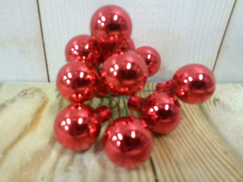 Kerstballetjes rood glas