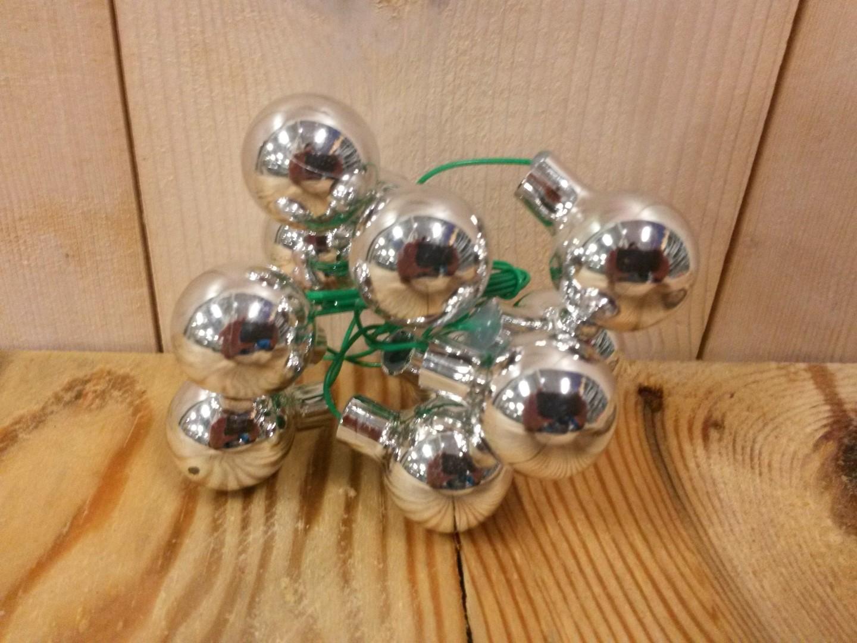 Kerstballetjes zilver glas