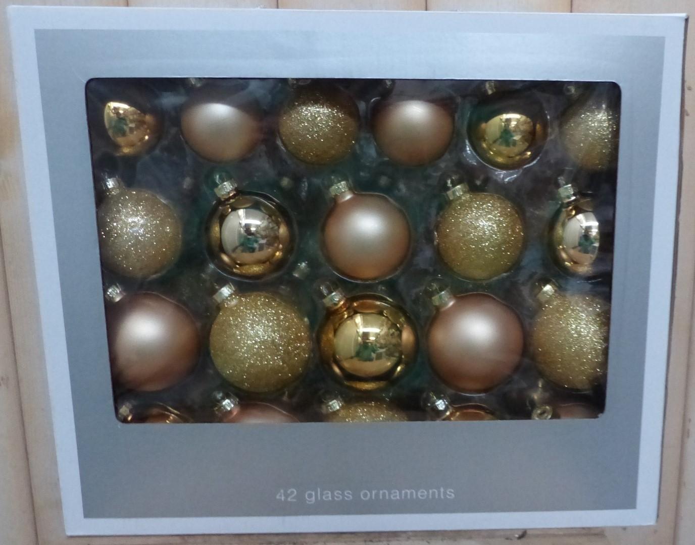 Kerstballen glas goud