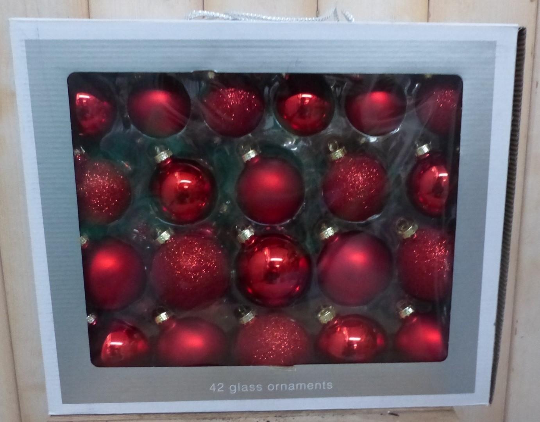 Kerstballen glas rood