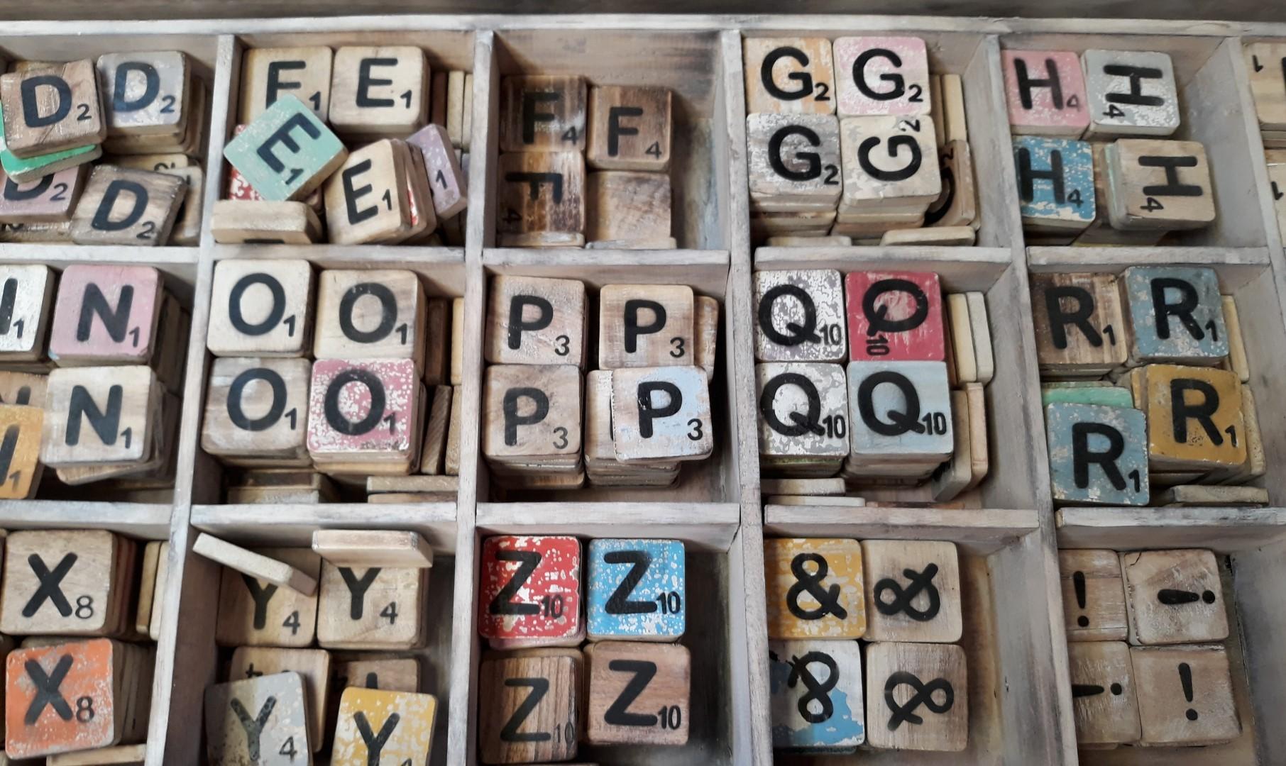 Losse Scrabble letters x10