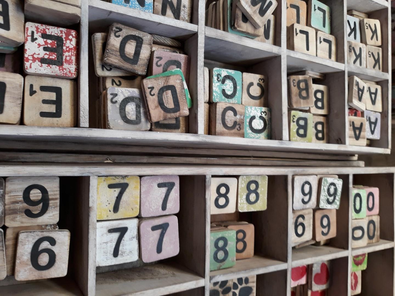 Losse Scrabble letters x20