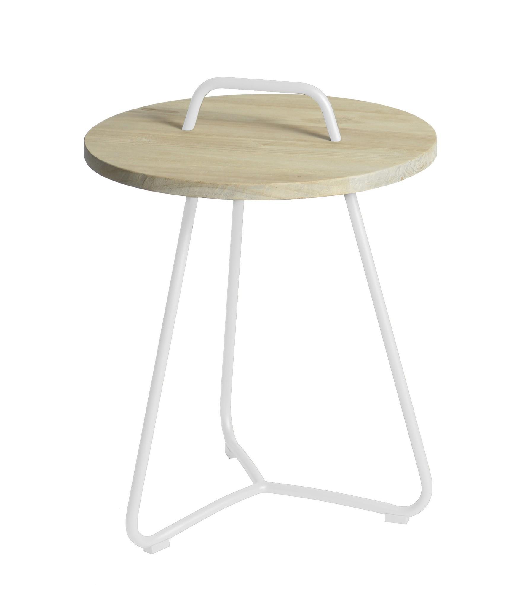 Ava side table diameter48,5x63 cm stonewhite
