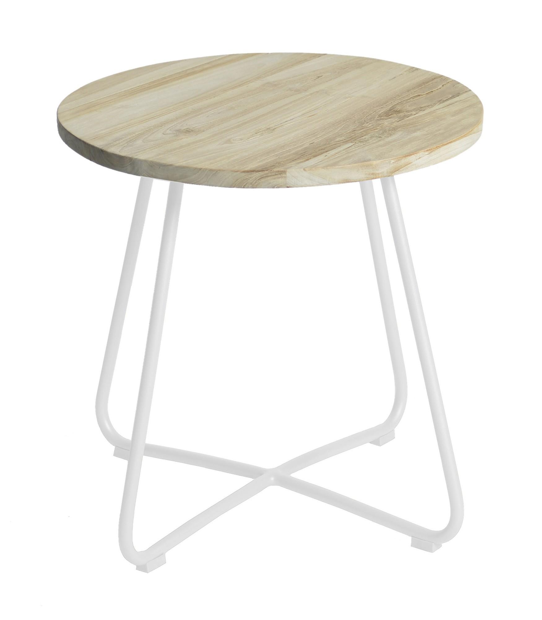 Lily side table diameter56,5x50 cm stonewhite