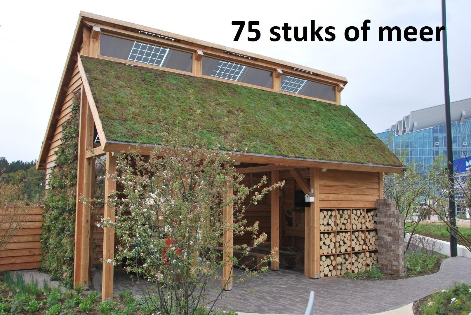 Minimaal 75 stuks! Sedummixmat T Compleet (incl. drainage type 11c & daktuinsubstraat) per 1.2 m2 ma