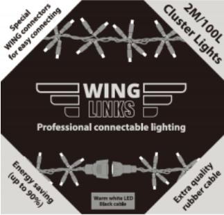 Adapter koppelverlichting 1.5 meter aansluitsnoer 1,5 meter lang