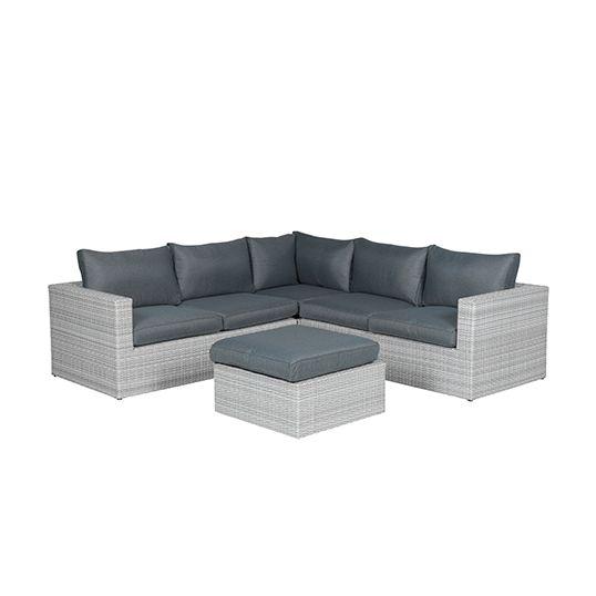 Orangebird lounge set 4-dlg vintage grey 2-h./reflex black