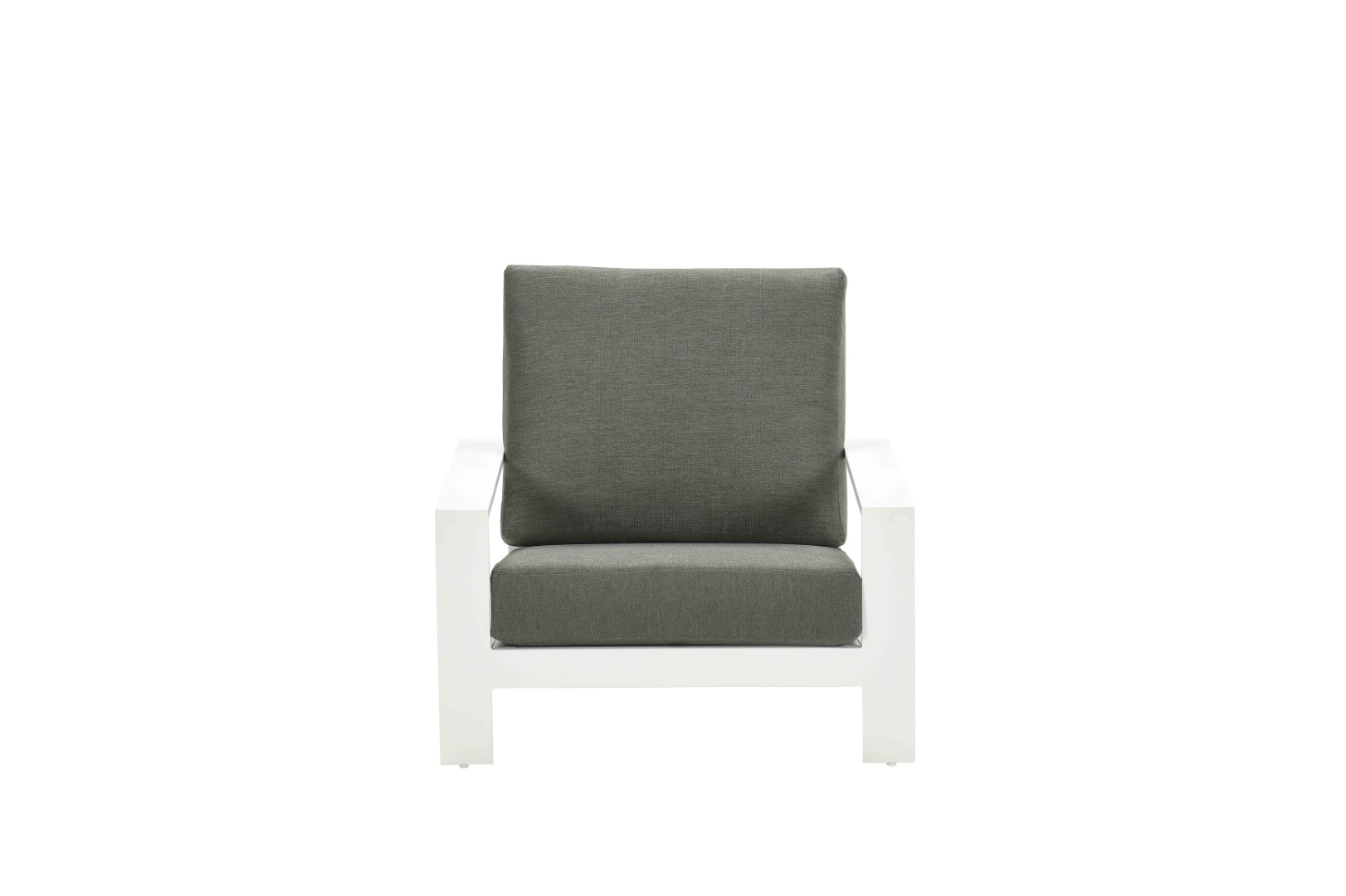 Lincoln lounge fauteuil mat wit/ moss green