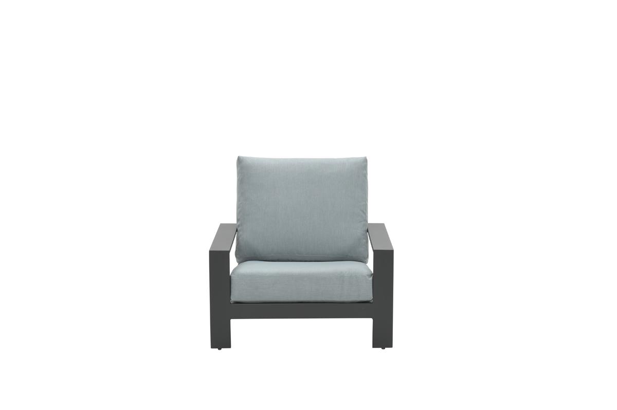Lincoln lounge fauteuil carbon black/ mint grey
