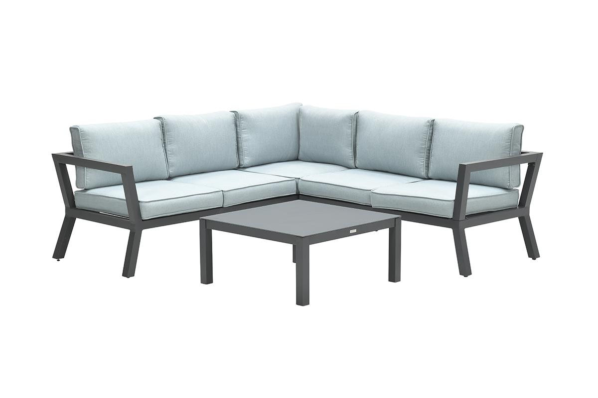 Colorado lounge set 3-dlg carbon black/ mint grey