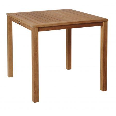 Borek Trento tafel 80x80 cm teak
