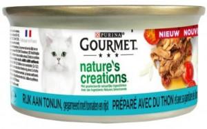 Nature's creations, rijk aan tonijn kattenvoer Gourmet