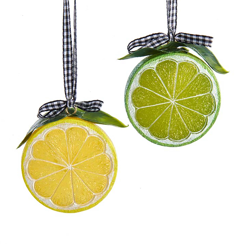 Ornament lemon plastic h15 cm
