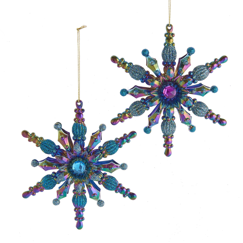Ornament Peacock plastic h13 cm