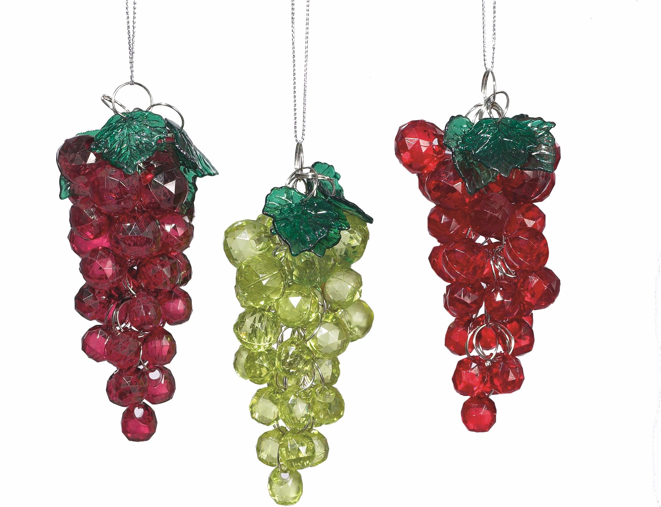 Ornament Wine kunststof h10 cm